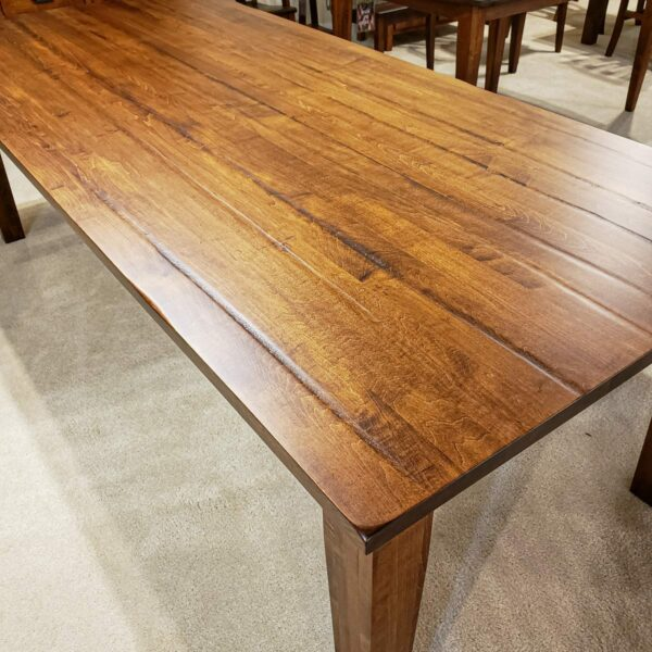 42 x 96 Solid Top Brown Maple Table