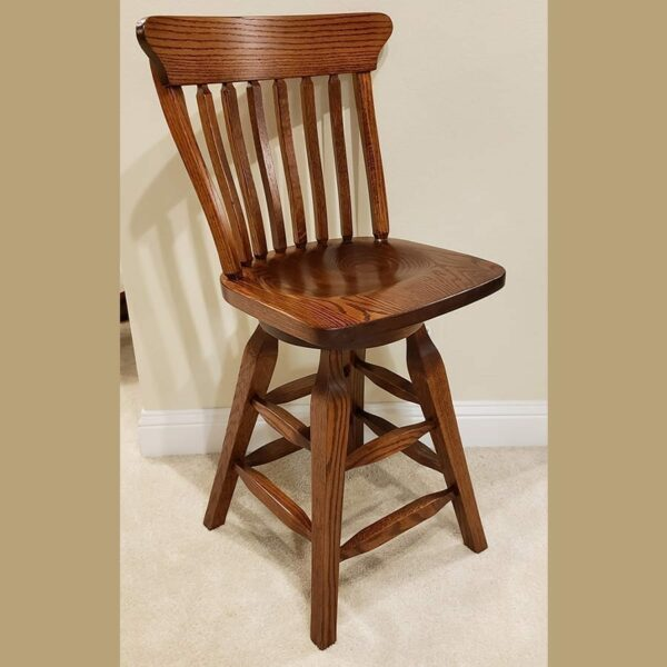 24 in old south bar chair oak antique