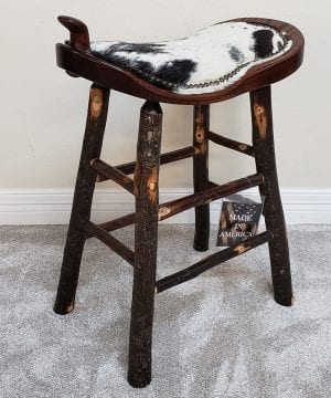 24 r hickory cowhide barstool