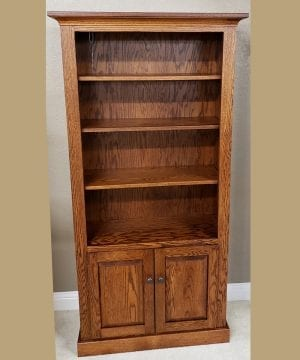 36 x 72 bookcase w doors 14417