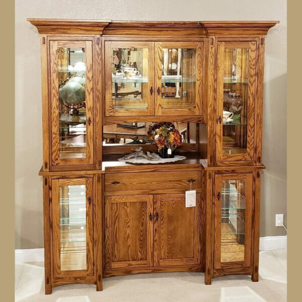 72 inch alvada hutch oak traditional