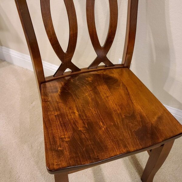 Cambria Antique Br. Maple Side Chair