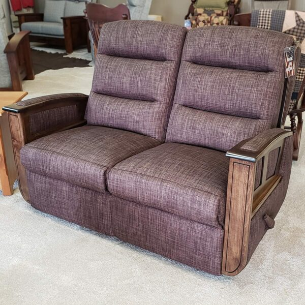 Hampton Br. Maple Reclining Loveseat