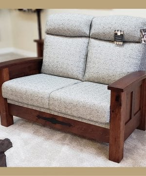 Kimbolton Hickory Stationary Love Seat