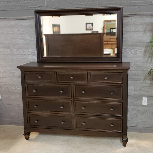 Legacy Village Cherry dresser 16134 and mirror 16135