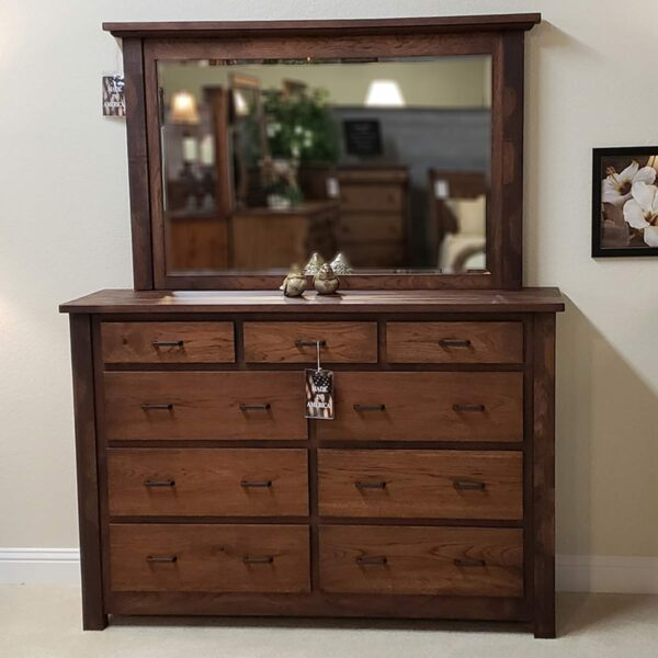 Logan dresser 12462 and mirror 12463 front