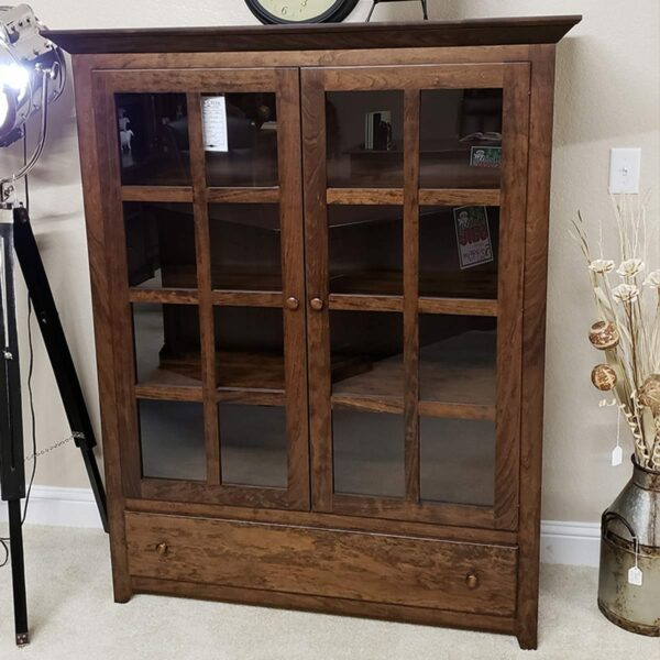 Long door mission grid bookcase 15019