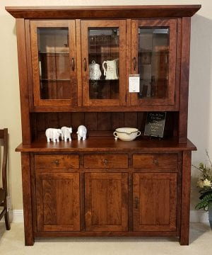 Western mission 3 door hutch antique cherry