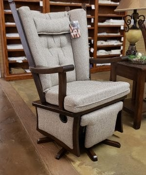 Ashland Oak Swivel with Foot Rest