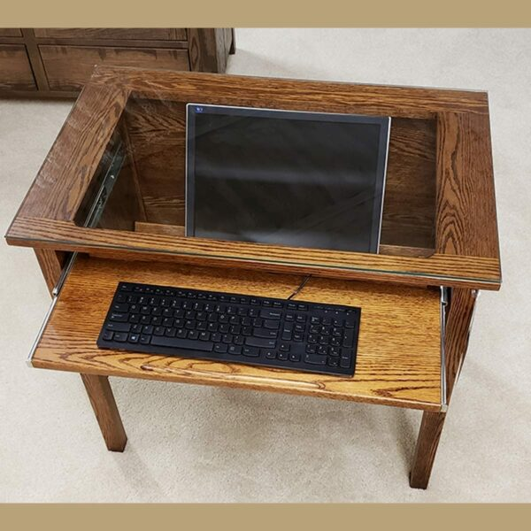 glasstop computer desk 14006