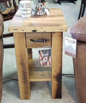 Heavy Mission Reclaimed Wood Small End Table