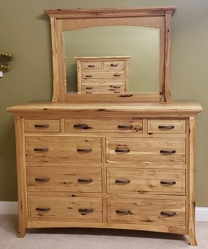 homestead dresser 14953 and mirror 14954 front