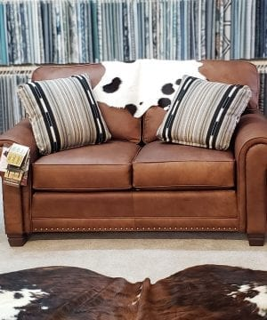 393 Leather Loveseat