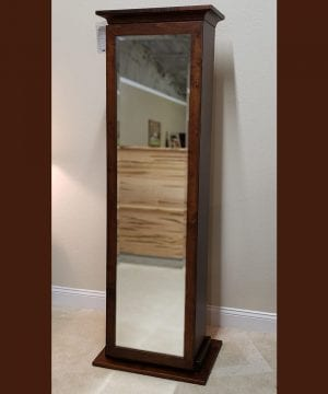Mirror with Concealed Gun Cabinet